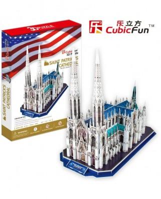 Puzzle 3D Cubic Fun - Saint Patrick's Cathedral, 117 piese (Cubic-Fun-MC103H)