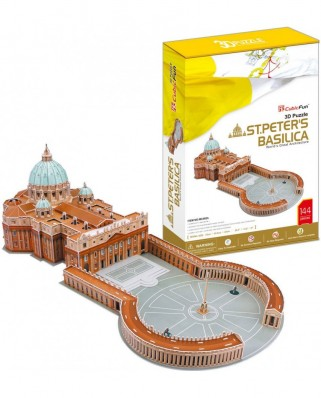 Puzzle 3D Cubic Fun - Saint Peter's Basilica in Rome, 144 piese (Cubic-Fun-MC092H)