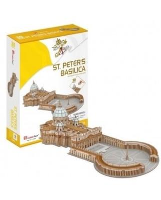 Puzzle 3D Cubic Fun - Saint Peter's Basilica in Rome, 68 piese (Cubic-Fun-C244h)