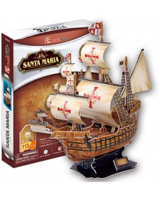 Puzzle 3D Cubic Fun - Santa Maria, 113 piese (Cubic-Fun-T4008H)