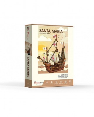 Puzzle 3D Cubic Fun - Santa Maria, 93 piese (Cubic-Fun-T4031h)