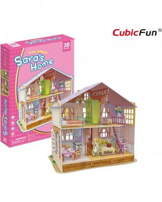 Puzzle 3D Cubic Fun - Sara's Home, 94 piese (Cubic-Fun-P678h)