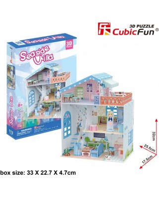Puzzle 3D Cubic Fun - Seaside Village, 112 piese (Cubic-Fun-P683h)