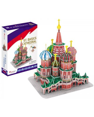 Puzzle 3D Cubic Fun - St. Basil's Cathedral, 92 piese (Cubic-Fun-C239h)