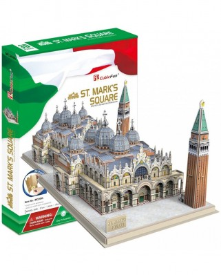 Puzzle 3D Cubic Fun - St. Mark's Square, 107 piese (Cubic-Fun-MC209h)