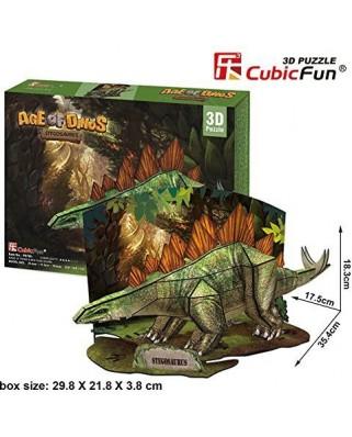 Puzzle 3D Cubic Fun - Stegosaurus, 41 piese (Cubic-Fun-P670H)