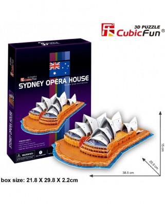 Puzzle 3D Cubic Fun - Sydney Opera House, 58 piese (Cubic-Fun-C067H)