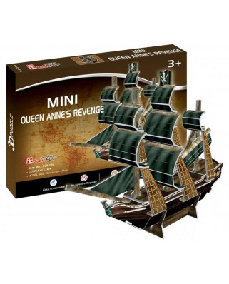 Puzzle 3D Cubic Fun - The Queen Anne's Revenge, 24 piese mini (Cubic-Fun-S3031h)