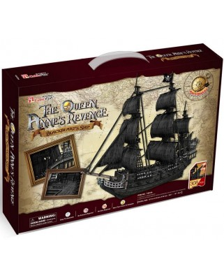 Puzzle 3D Cubic Fun - The Queen Anne's Revenge, 308 piese (Cubic-Fun-T4018H)