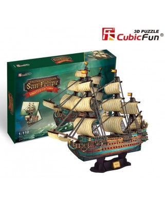 Puzzle 3D Cubic Fun - The Spanish Armada-San Felipe, 248 piese (Cubic-Fun-T4017H)