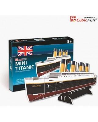 Puzzle 3D Cubic Fun - Titanic, 30 piese (Cubic-Fun-S3017H)