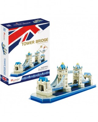 Puzzle 3D Cubic Fun - Tower Bridge, 52 piese (Cubic-Fun-C238h)