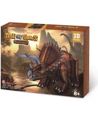 Puzzle 3D Cubic Fun - Triceratops Dinosaur, 41 piese (Cubic-Fun-P669h)