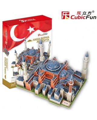 Puzzle 3D Cubic Fun - Turkey, Istanbul: St. Sophia Basilica, 225 piese (Cubic-Fun-MC134H)