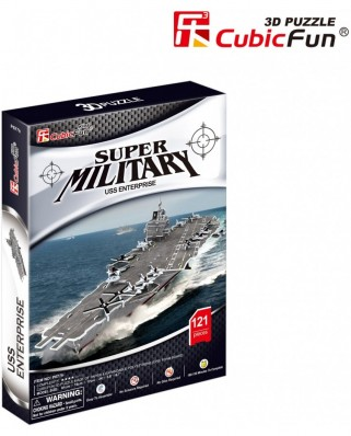 Puzzle 3D Cubic Fun - USS Enterprise - London, 121 piese (Cubic-Fun-P677h)