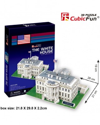 Puzzle 3D Cubic Fun - Washington: The White House, 65 piese (Cubic-Fun-C060H)