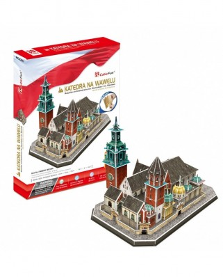 Puzzle 3D Cubic Fun - Wawel Cathedral, 101 piese (Cubic-Fun-MC226h)