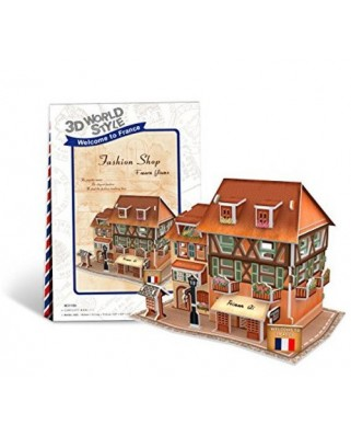 Puzzle 3D Cubic Fun - World Style - Welcome to France, 31 piese (Cubic-Fun-W3119H)