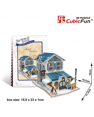 Puzzle 3D Cubic Fun - World Style - Welcome to France, 32 piese (Cubic-Fun-W3117H)