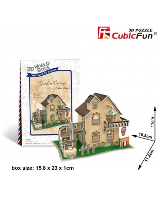 Puzzle 3D Cubic Fun - World Style - Welcome to France, 36 piese (Cubic-Fun-W3118H)