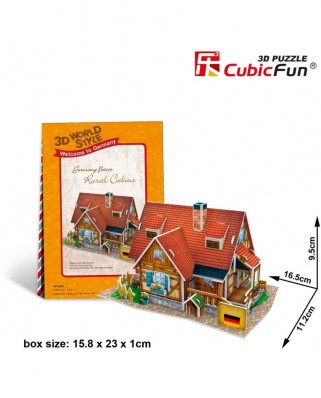 Puzzle 3D Cubic Fun - World Style - Welcome to Germany, 37 piese (Cubic-Fun-W3128H)