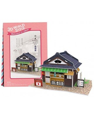 Puzzle 3D Cubic Fun - World Style - Welcome to Japan, 25 piese (Cubic-Fun-W3102H)