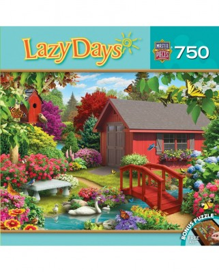 Puzzle Master Pieces - Alan Giana: Lazy Days - Over the Bridge, 750 piese (Master-Pieces-31693)