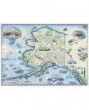 Puzzle Master Pieces - Alaska Map, 1.000 piese (Master-Pieces-71840)