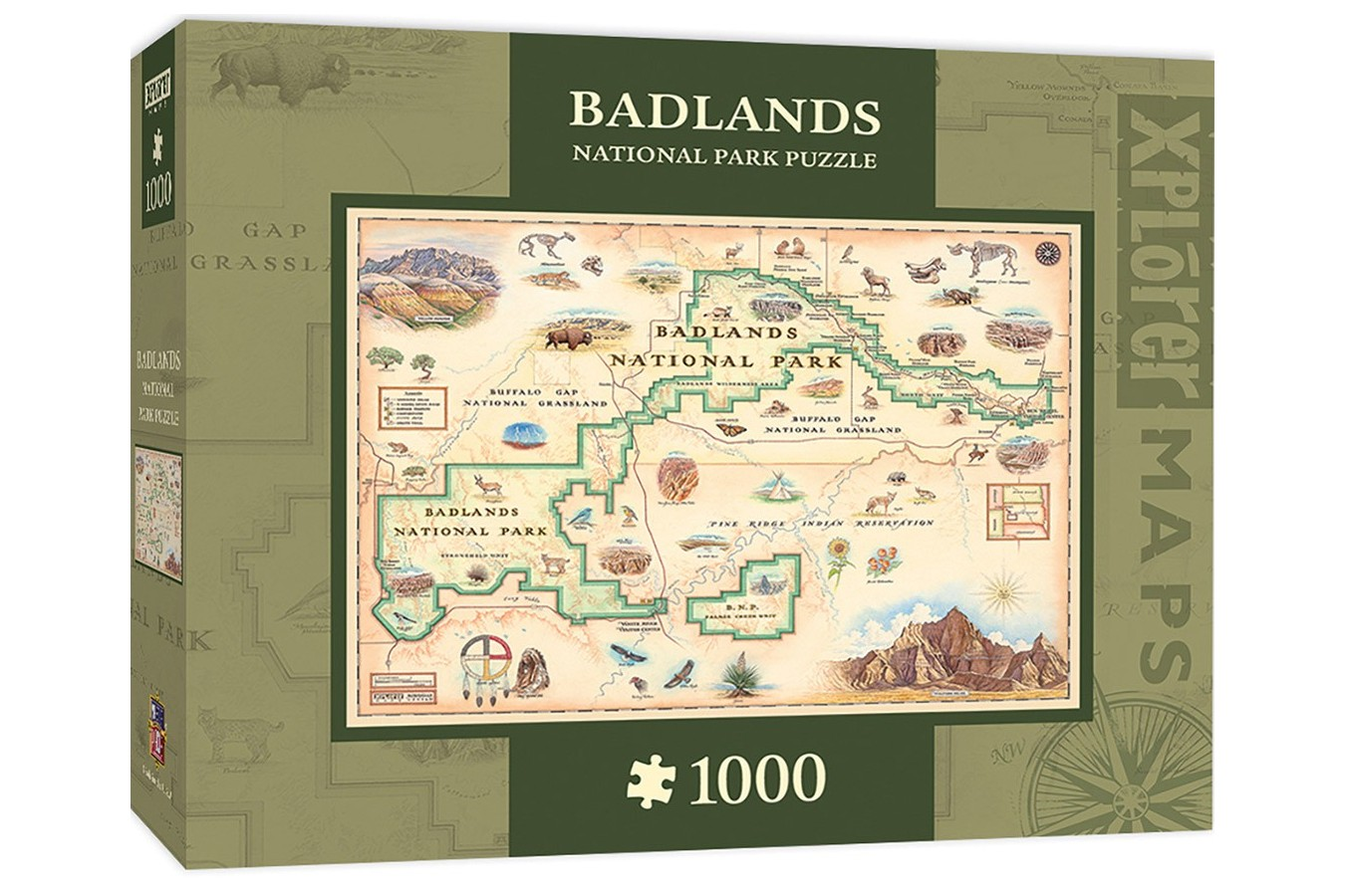 Puzzle Master Pieces - Badlands Map, 1.000 piese (Master-Pieces-71764)