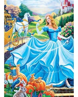 Puzzle Master Pieces - Book Box - Cinderella, 1.000 piese (Master-Pieces-71830)