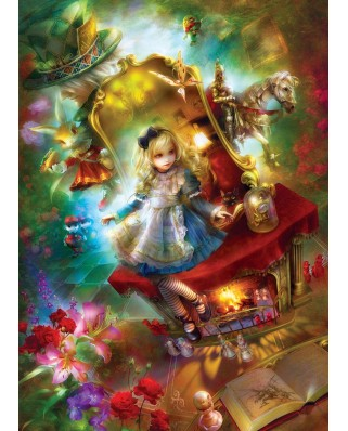 Puzzle Master Pieces - Book Box - Lost in Wonderland, 1.000 piese (Master-Pieces-71552)