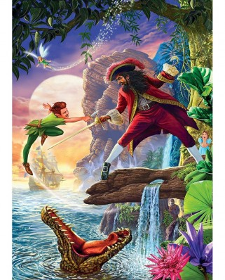 Puzzle Master Pieces - Book Box - Peter Pan, 1.000 piese (Master-Pieces-71660)