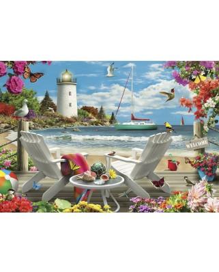 Puzzle Master Pieces - Coastal Escape, 2.000 piese (Master-Pieces-81401)