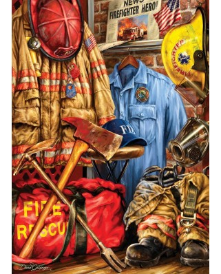Puzzle Master Pieces - Dona Gelsinger: Fire and Rescue, 1.000 piese (Master-Pieces-71511)