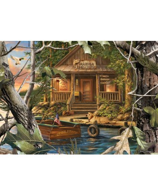 Puzzle Master Pieces - Gone Fishing, 1.000 piese (Master-Pieces-71754)
