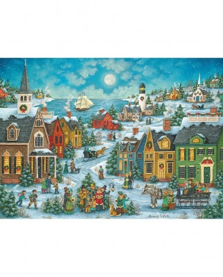 Puzzle Master Pieces - Harbor Side Carolers, 1.000 piese (Master-Pieces-71674)