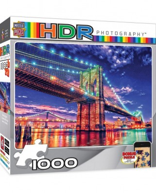 Puzzle Master Pieces - HDR Photography - Brooklyn Lights, 1.000 piese (Master-Pieces-71523)