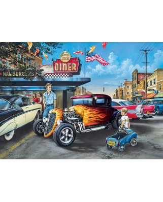 Puzzle Master Pieces - Hot Rods and Milkshakes, 1.000 piese (Master-Pieces-71811)