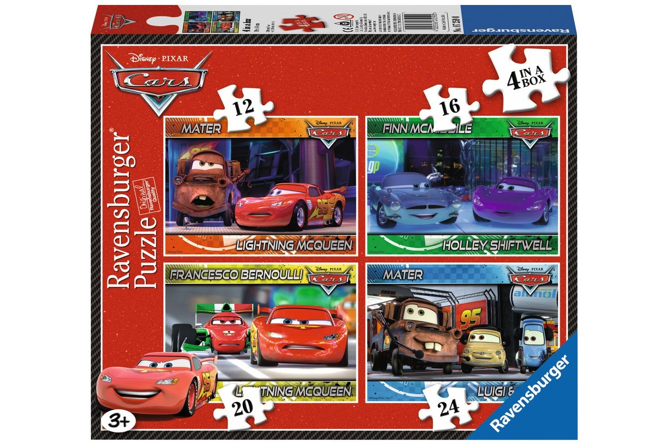 Puzzle Ravensburger - Disney Cars, 12/16/20/24 piese (07259)