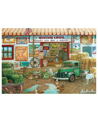 Puzzle Master Pieces - Janet Kruskamp: Farm & Fleet Store By , 2.000 piese (Master-Pieces-71664)