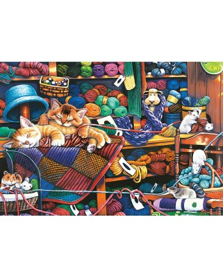 Puzzle Master Pieces - Knittin Kittens, 1.000 piese XXL (Master-Pieces-71827)