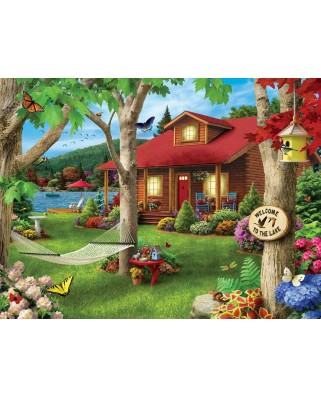 Puzzle Master Pieces - Lakeside Retreat, 750 piese (Master-Pieces-31574)