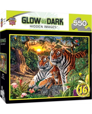 Puzzle fosforescent Master Pieces - Jungle Pride, 550 piese (Master-Pieces-31744)