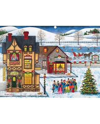 Puzzle Master Pieces - Main Street Carolers, 1.000 piese (Master-Pieces-71744)