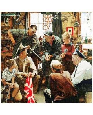Puzzle Master Pieces - Norman Rockwell: Return to the Marin home, 1.000 piese (Master-Pieces-71366)