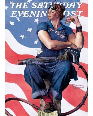 Puzzle Master Pieces - Norman Rockwell: Rosie the Riveter, 1.000 piese (Master-Pieces-71805)