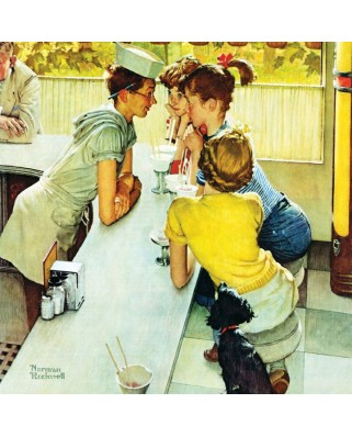 Puzzle Master Pieces - Norman Rockwell: Soda Jerk, 1.000 piese (Master-Pieces-71407)