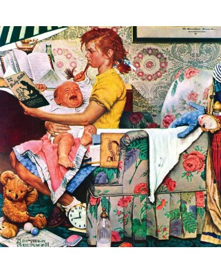 Puzzle Master Pieces - Norman Rockwell: The Babysitter, 1.000 piese (Master-Pieces-71509)