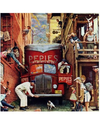 Puzzle Master Pieces - Norman Rockwell: The Blocked Street, 1.000 piese (Master-Pieces-71367)