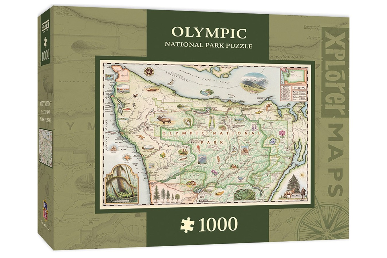 Puzzle Master Pieces - Olympic Map, 1.000 piese (Master-Pieces-71766)